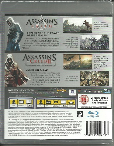Assassin's Creed I i Assassin's Creed II GOTY PL PS3
