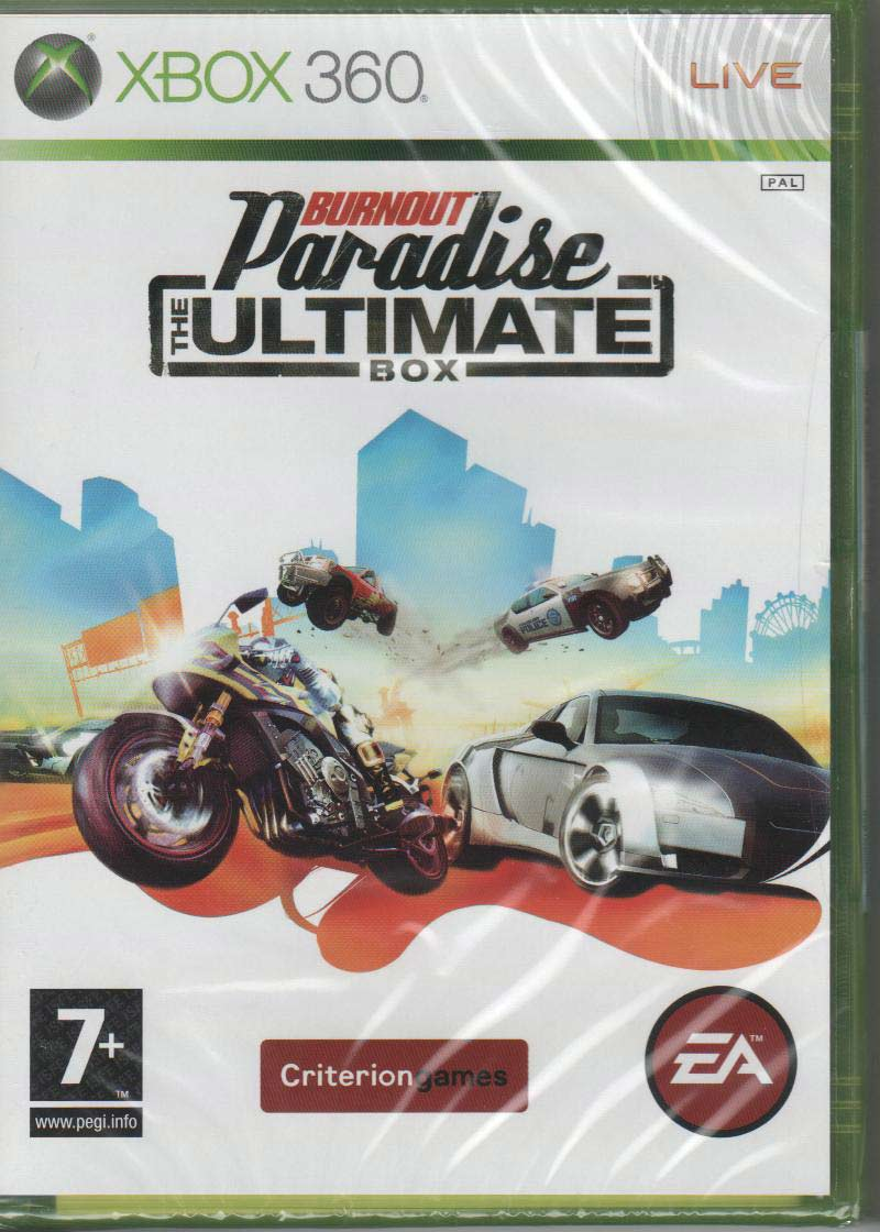 burnout paradise ultimate box xbox 360 front