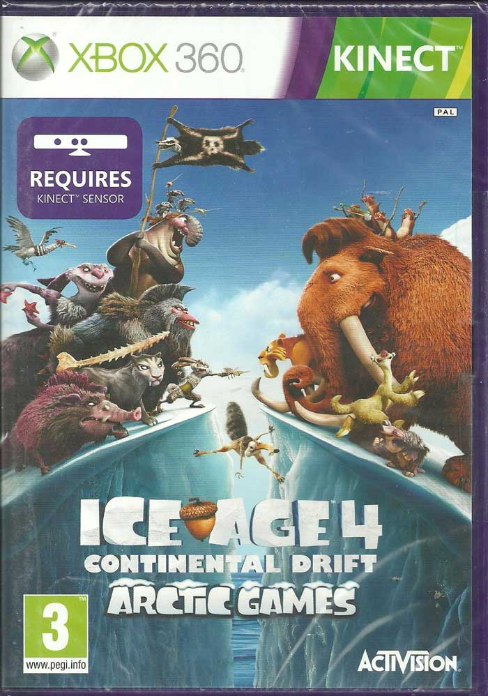 Ice Age 4 Continental Drift: Arctic Games Kinect XBOX 360