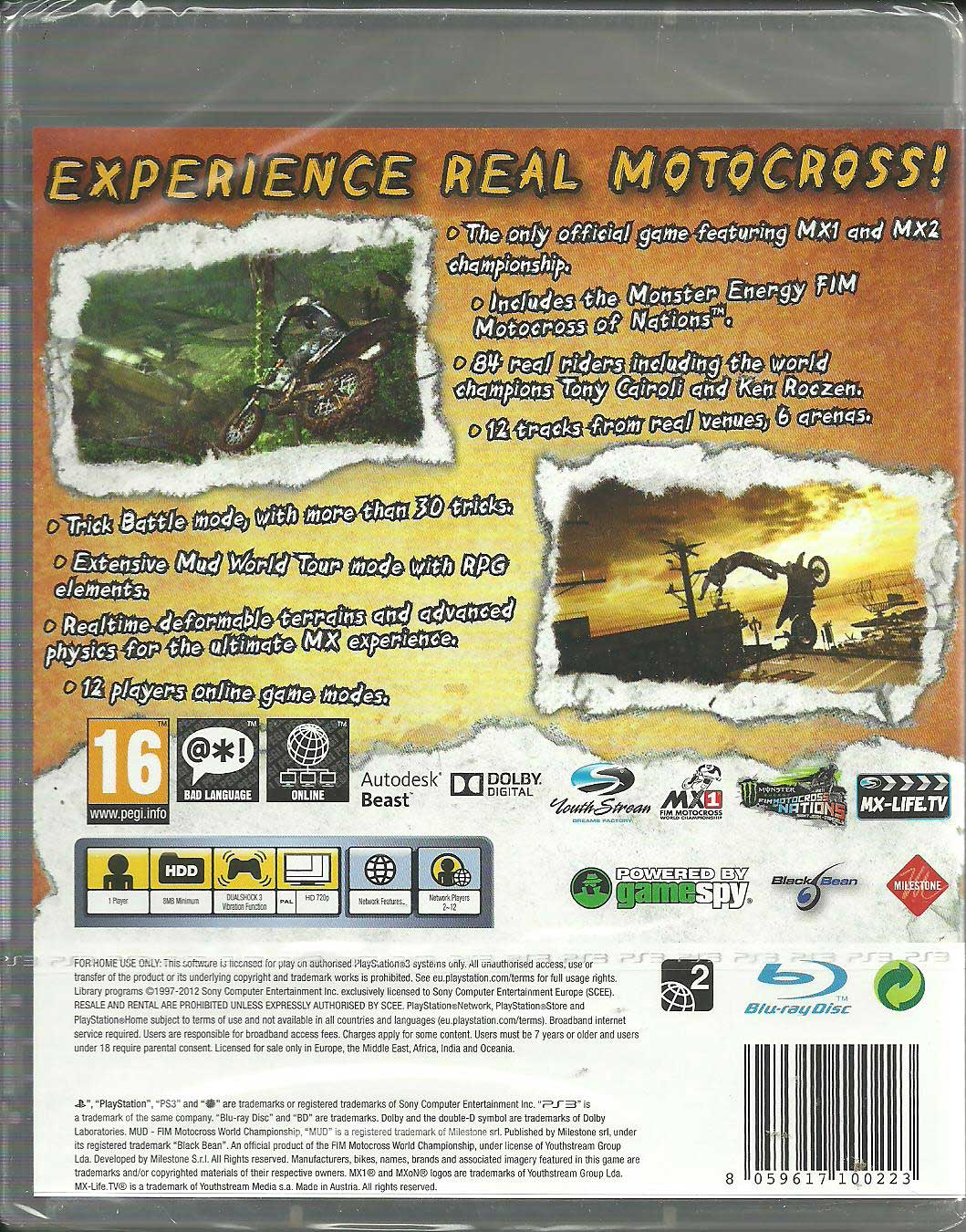 MUD FIM Motocross World Championship PS3